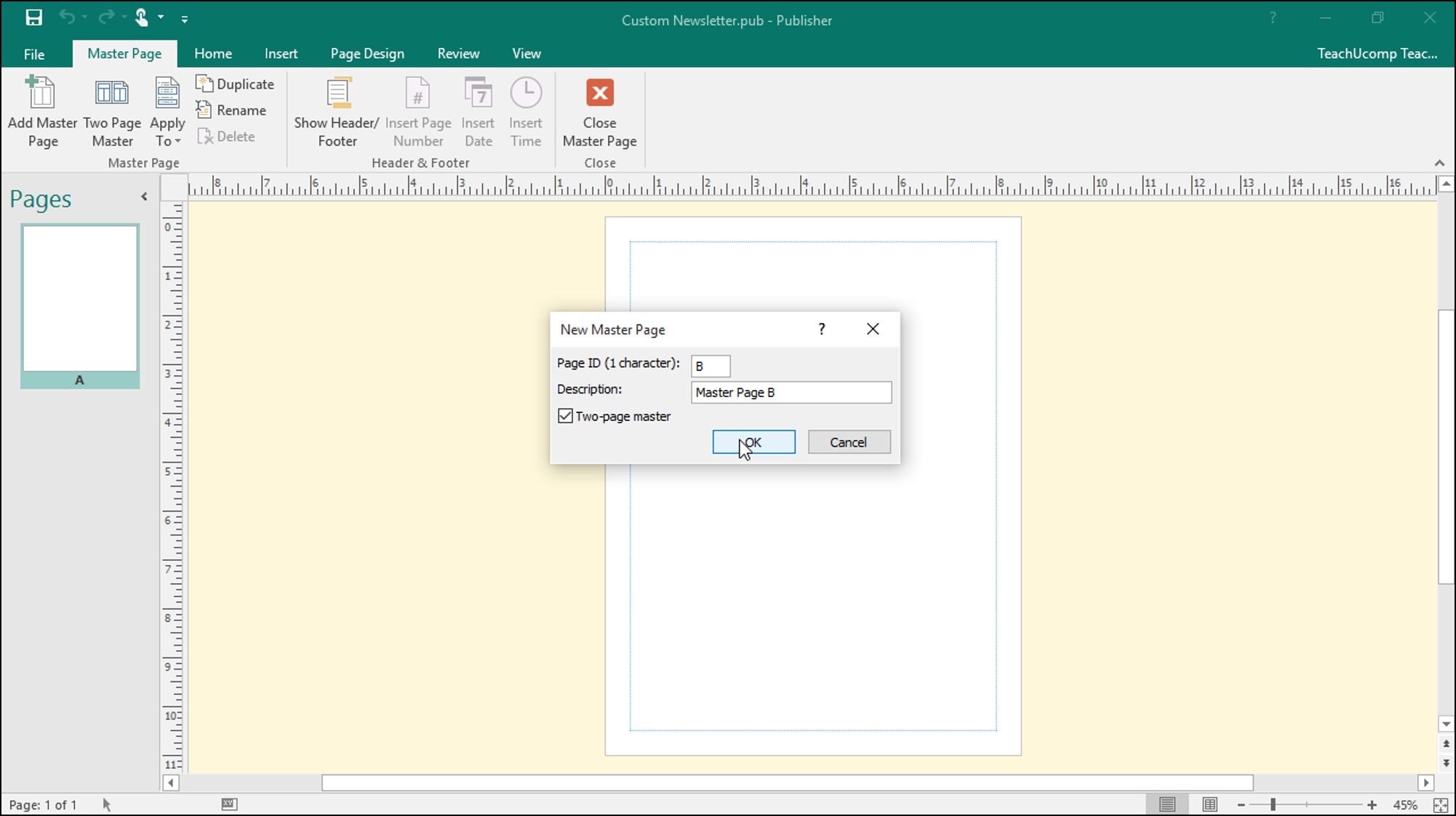 Master Pages In Publisher - Tutorial - Teachucomp, Inc. pertaining to How To Overlap Pictures Microsoft Word 2013