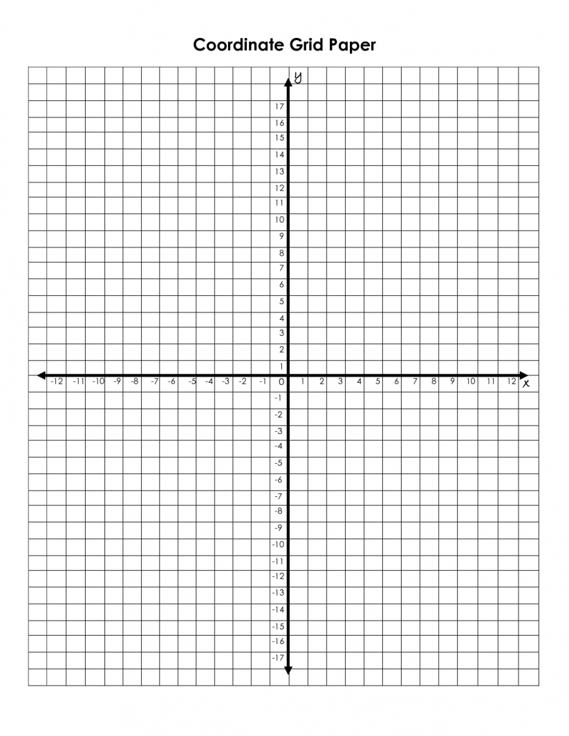 Math : Graph Paper With Coordinate Plane Interactivate Introduction inside 12 X 30 Grid Png