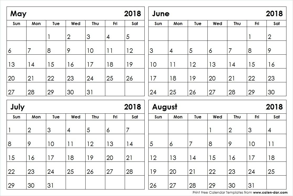 May June July August Calendar | Template Calendar Printable in Printable Calendar For May June July
