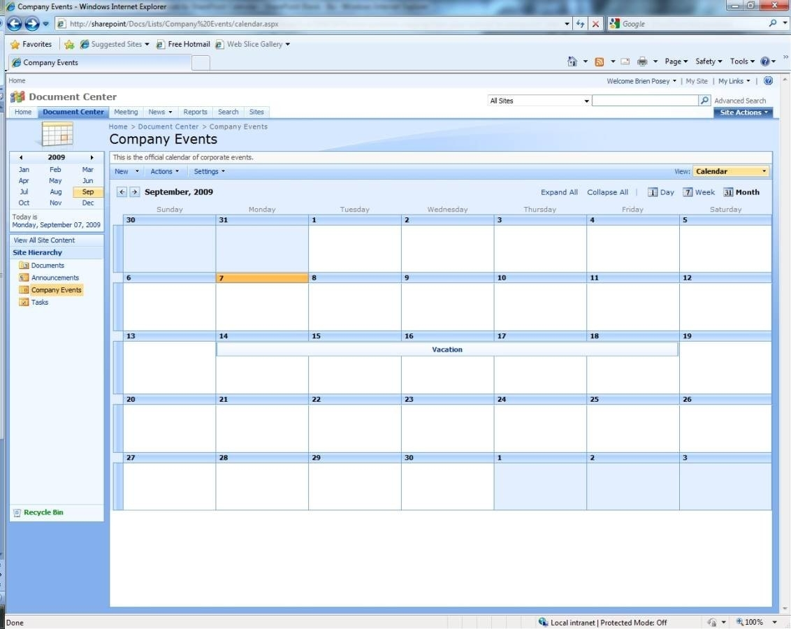 Microsoft Outlook And Sharepoint Calendar Dos And Don'ts throughout Outlook 2007 Calendar Event Template