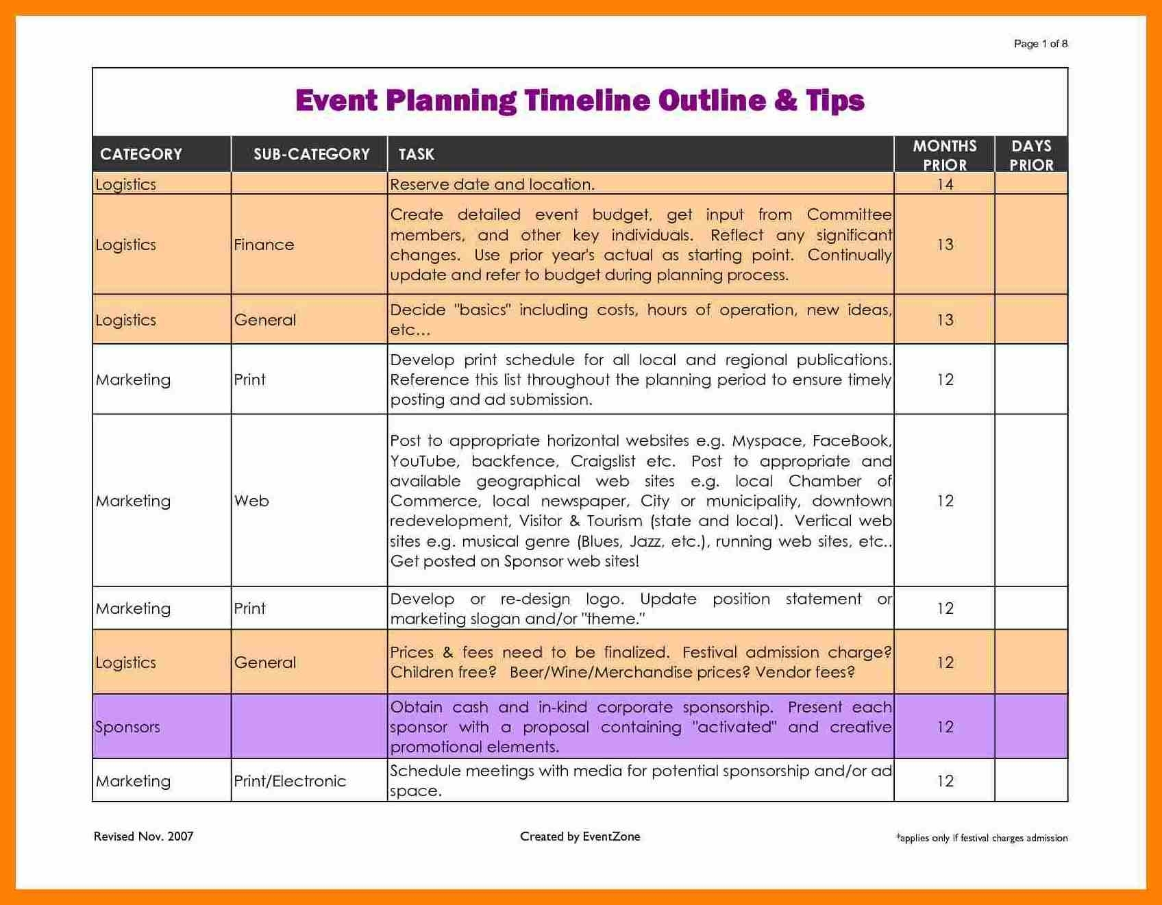 Microsoft Word Event Schedule Er Template Business Plan Ing Timeline in How To Detailed Event Scheduled