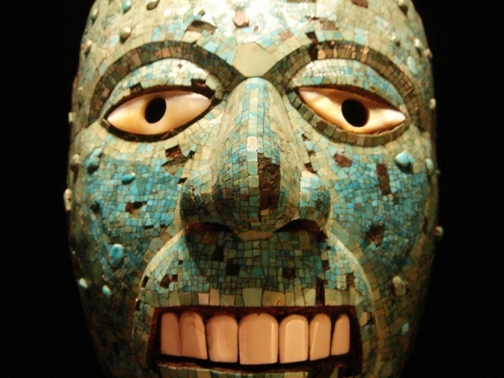 Mixtec-Aztec Mask Of Xiuthecuhtli | View Large A Mixtec-Azte… | Flickr regarding Aztec Masks And Ther Meanings