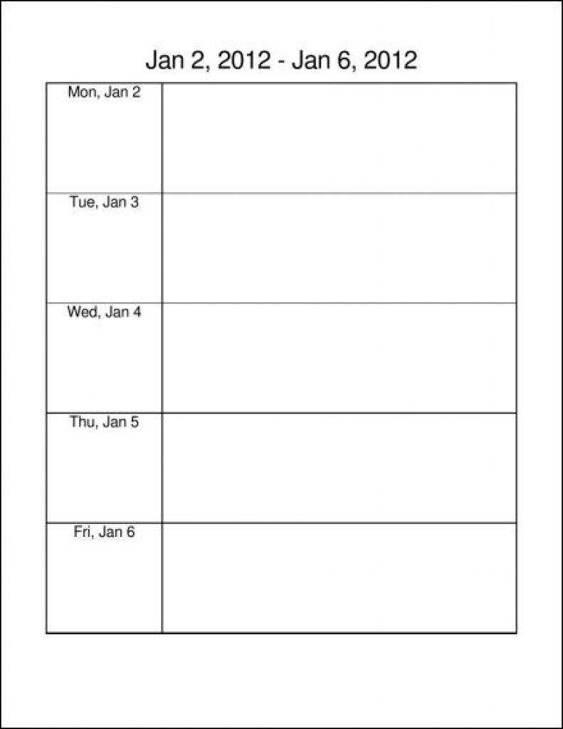 Monday Through Friday Calendar To Pdf March 2018 Business Letters for Monday Through Friday Calendar Template
