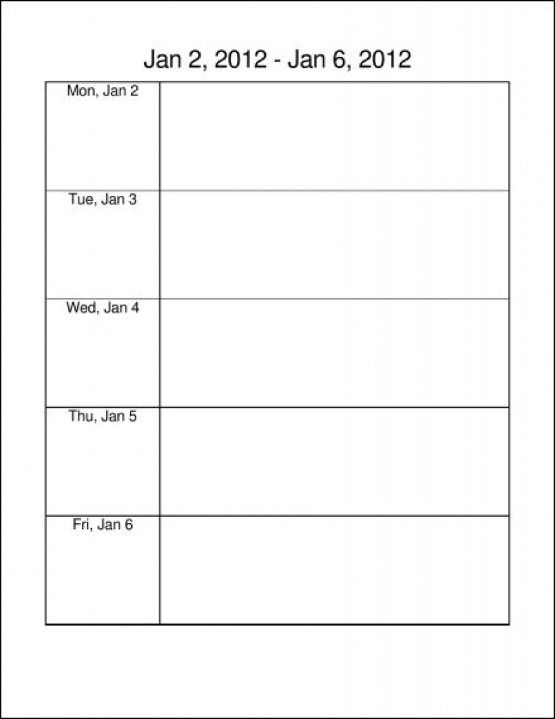 Monday Through Friday Calendar To Pdf March 2018 Business Letters in Monday Thru Friday Calendar Printable