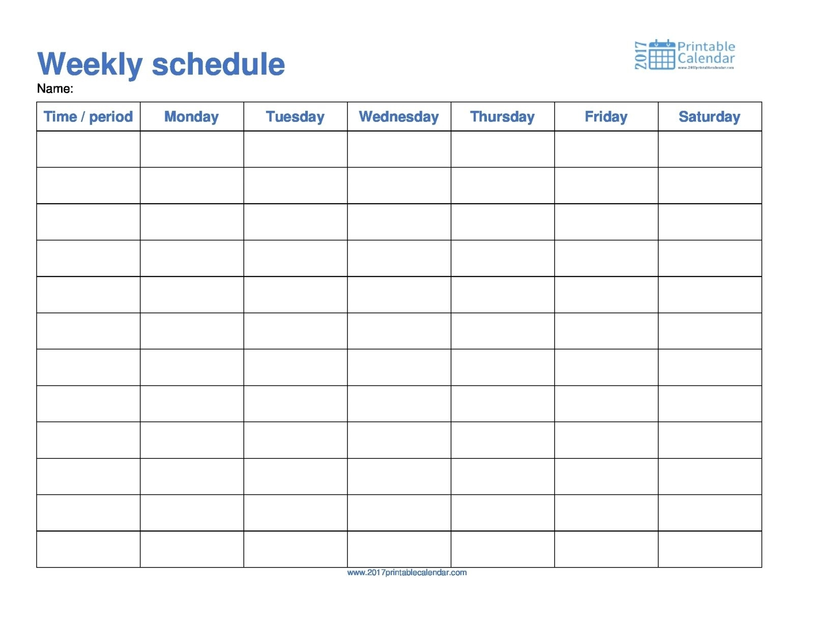 Monday Through Friday Weekly Calendar Template Word Onthly | Smorad intended for Full Size Weekly Calendar Templates