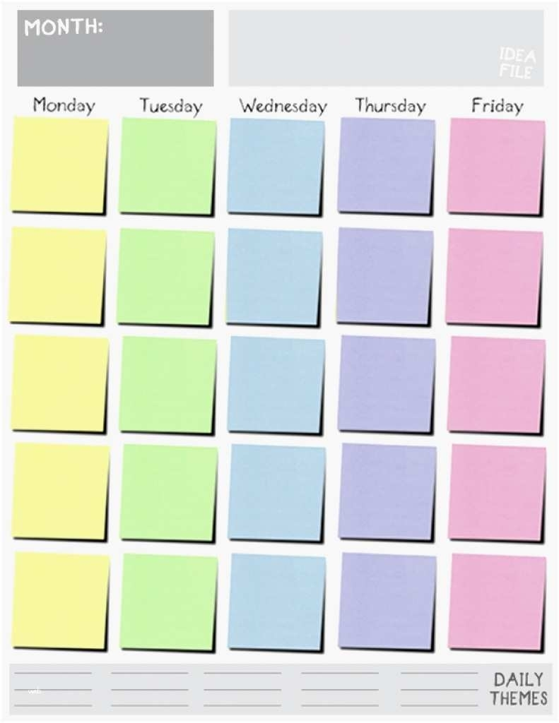 Monday Through Friday Weekly Schedule Template Awesome Monday Friday intended for Calendar Monday Through Friday Schedule