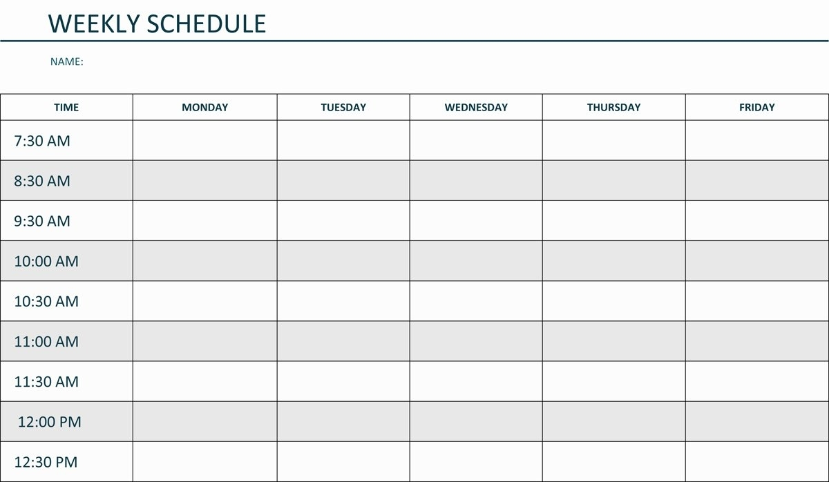 Monday Through Sunday Calendar – Latter Example Template pertaining to Weekly Schedule Monday - Sunday