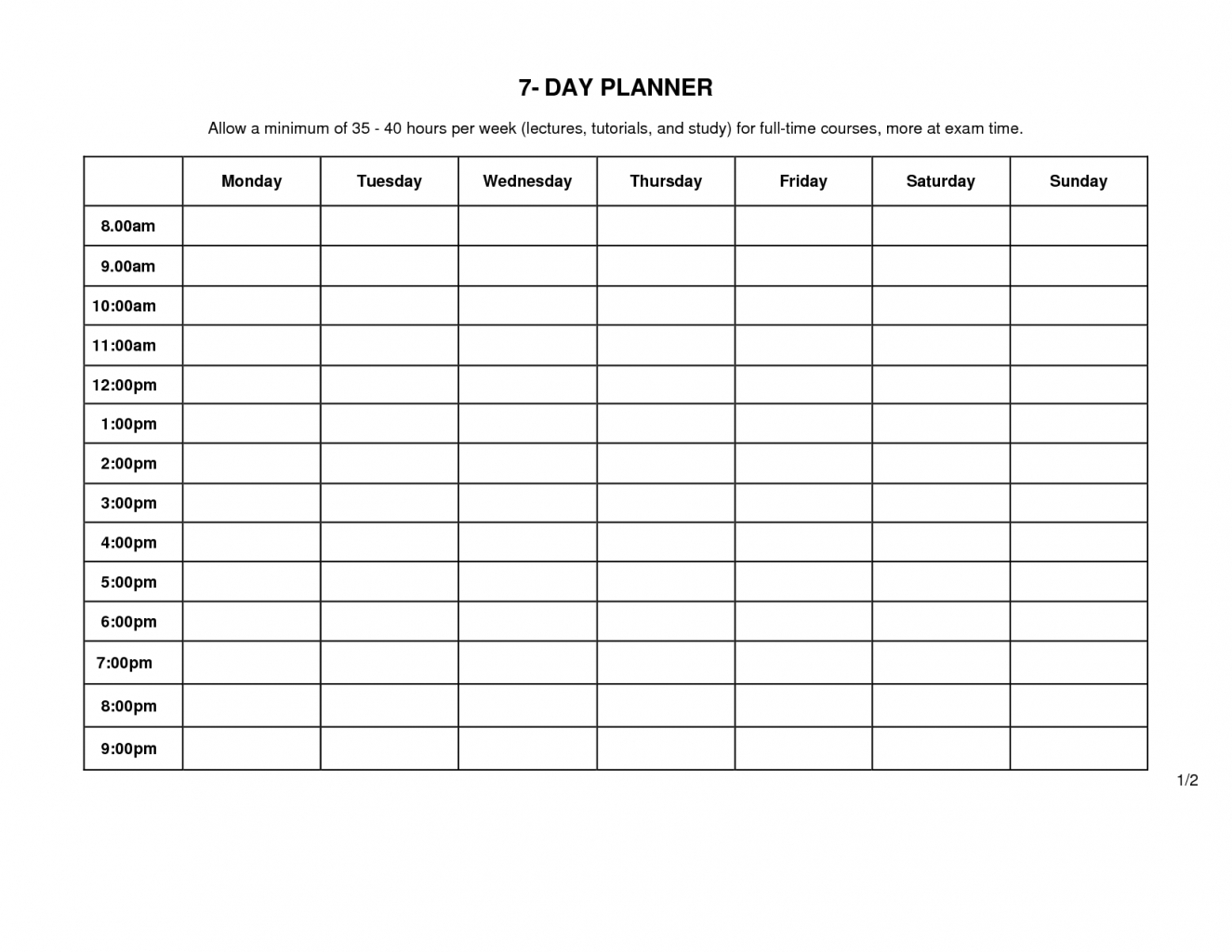 Monday To Friday Timetable Template | Template Calendar Printable inside Printable Weekly Schedule Monday Through Friday