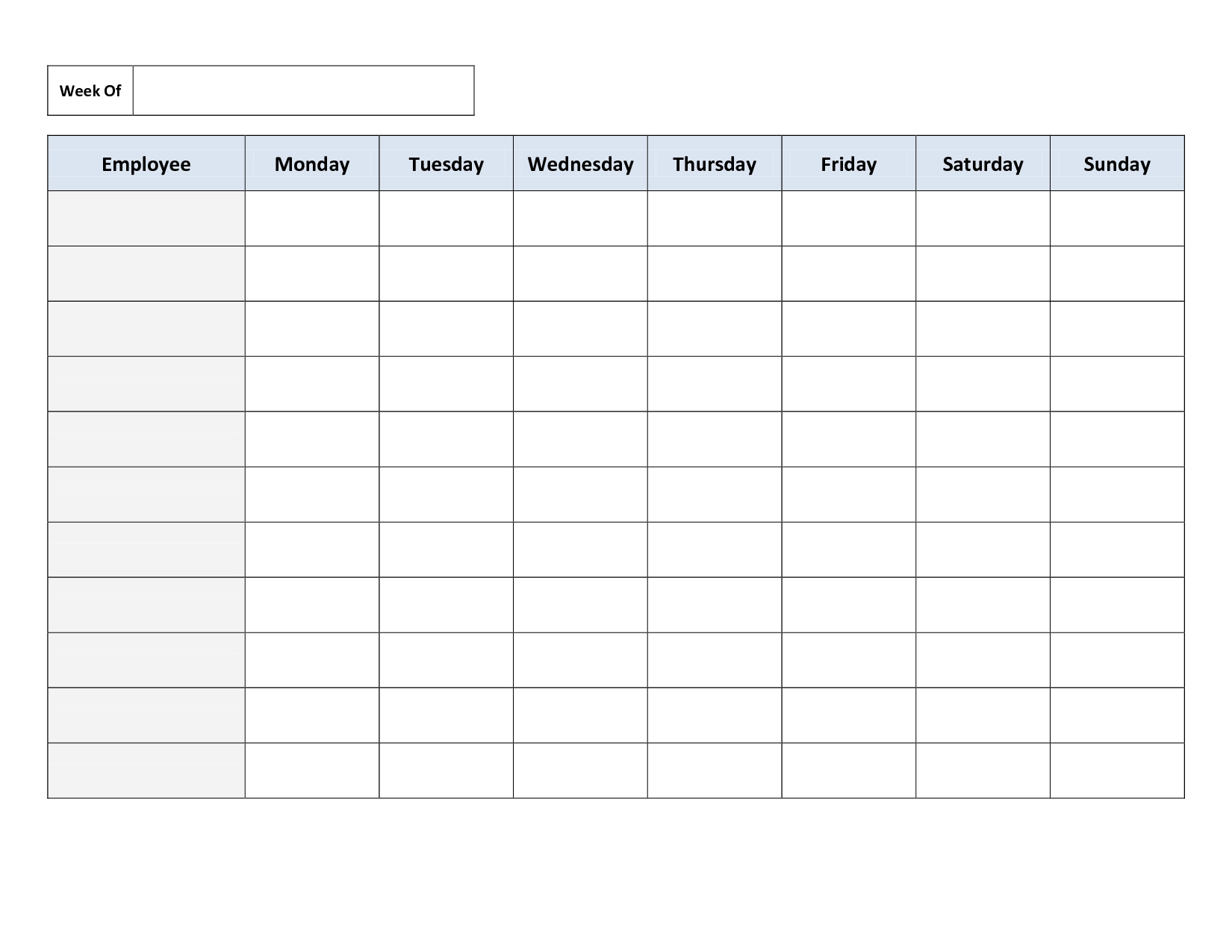 Monday To Y Schedule Template Weekly Friday Pdf Thru Saturday   Smorad inside Monday - Sunday Weekly Schedule
