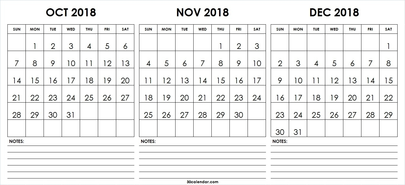 Month Calendar Printable Sept Oct Nov Dec | Template Calendar Printable pertaining to Month Calendar Printable Sept Oct Nov Dec