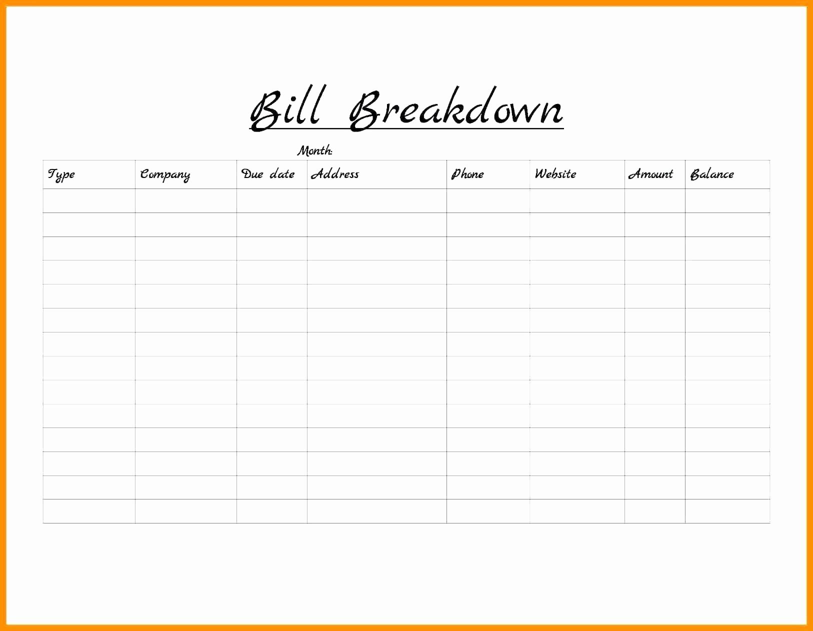 Monthly Bill Organizer Template | Camisonline inside Blank Monthly Bill Organizer Printable