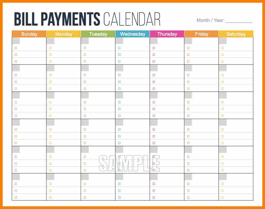 Monthly Bills Checklist Bill Payment Good Pay Template Samples Free with Blank Printable Monthly Bill Calendar