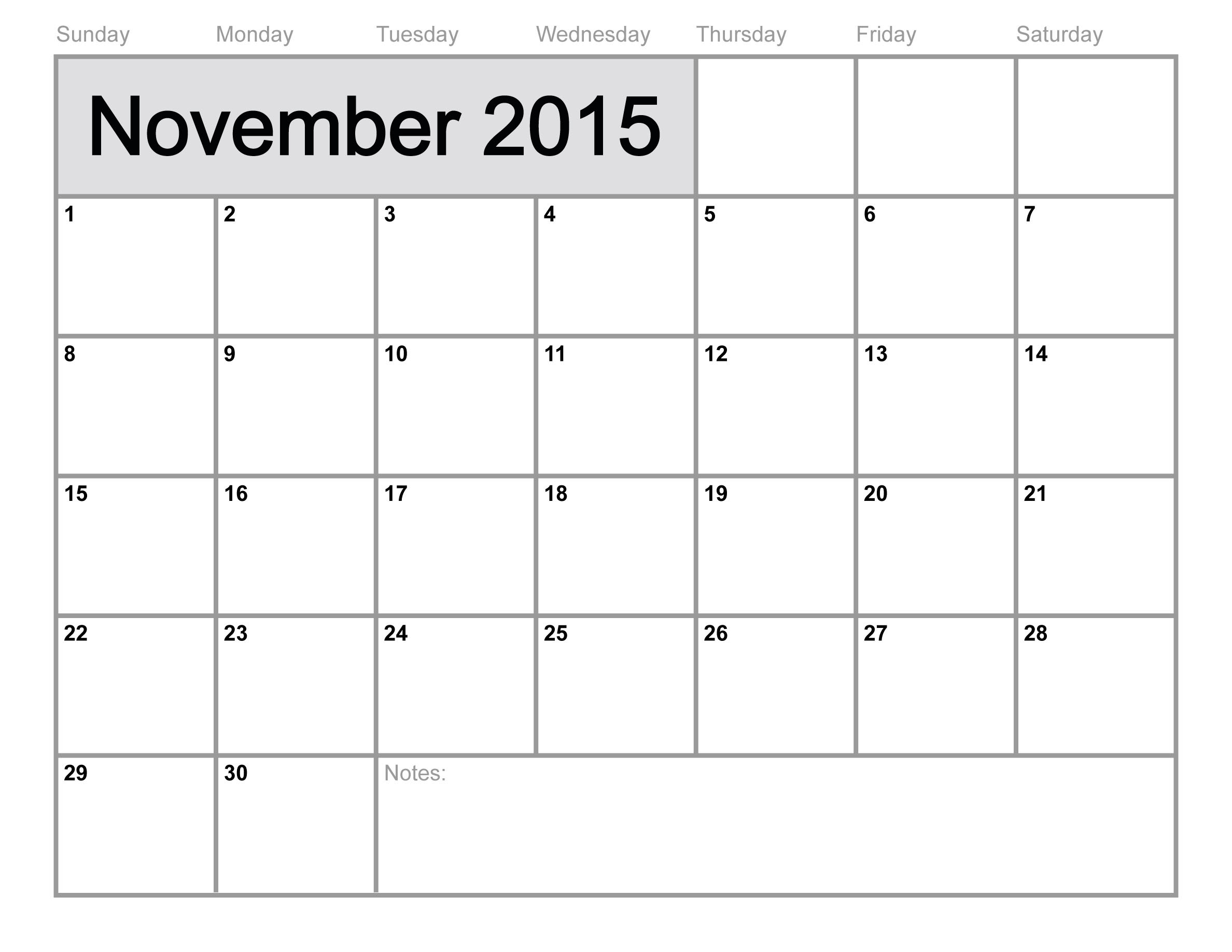 Monthly Calendar Template 2015 - Wallofcoins.wallofcoins.tk throughout Editable 2015 Monthly Calendar Template