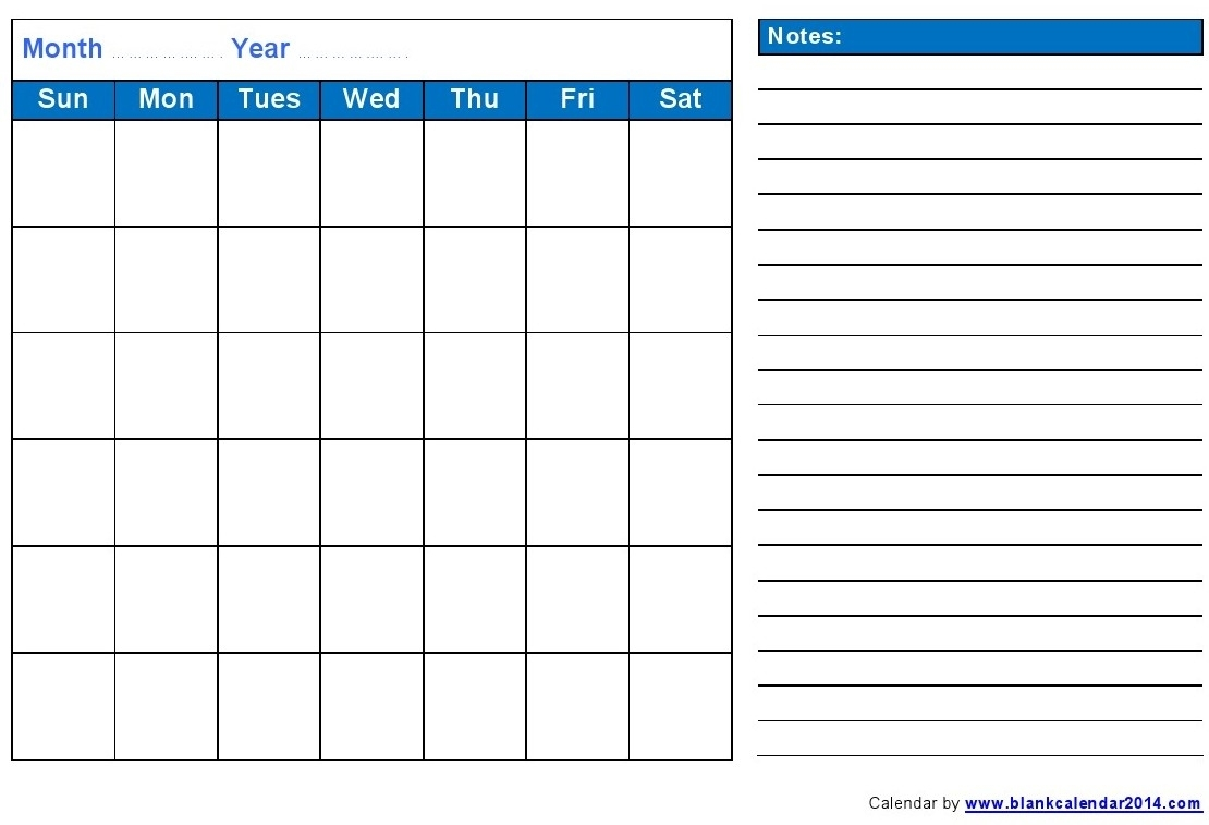 Monthly Calendar With Notes | 2018 Yearly Calendar with regard to Printable Monthly Calendar With Notes