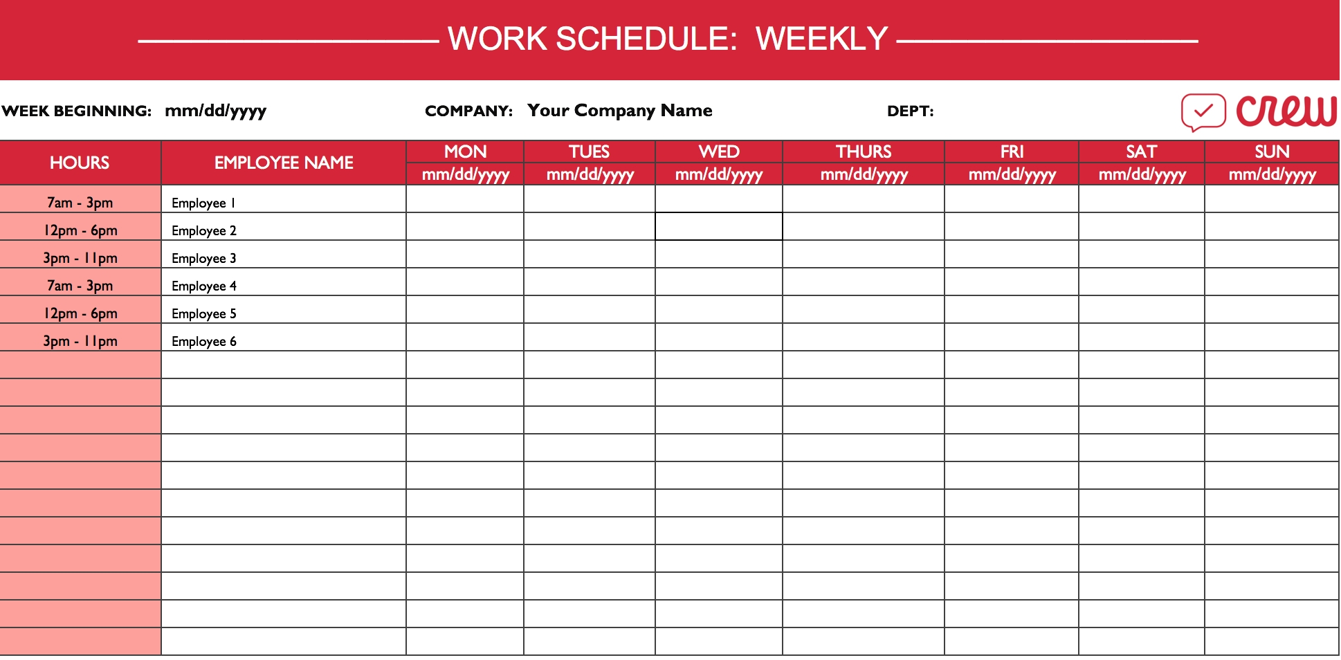 Monthly Employee Shift Schedule Template Excel Free Calendar | Smorad with regard to Excel 3 Month Staff Calendar Template
