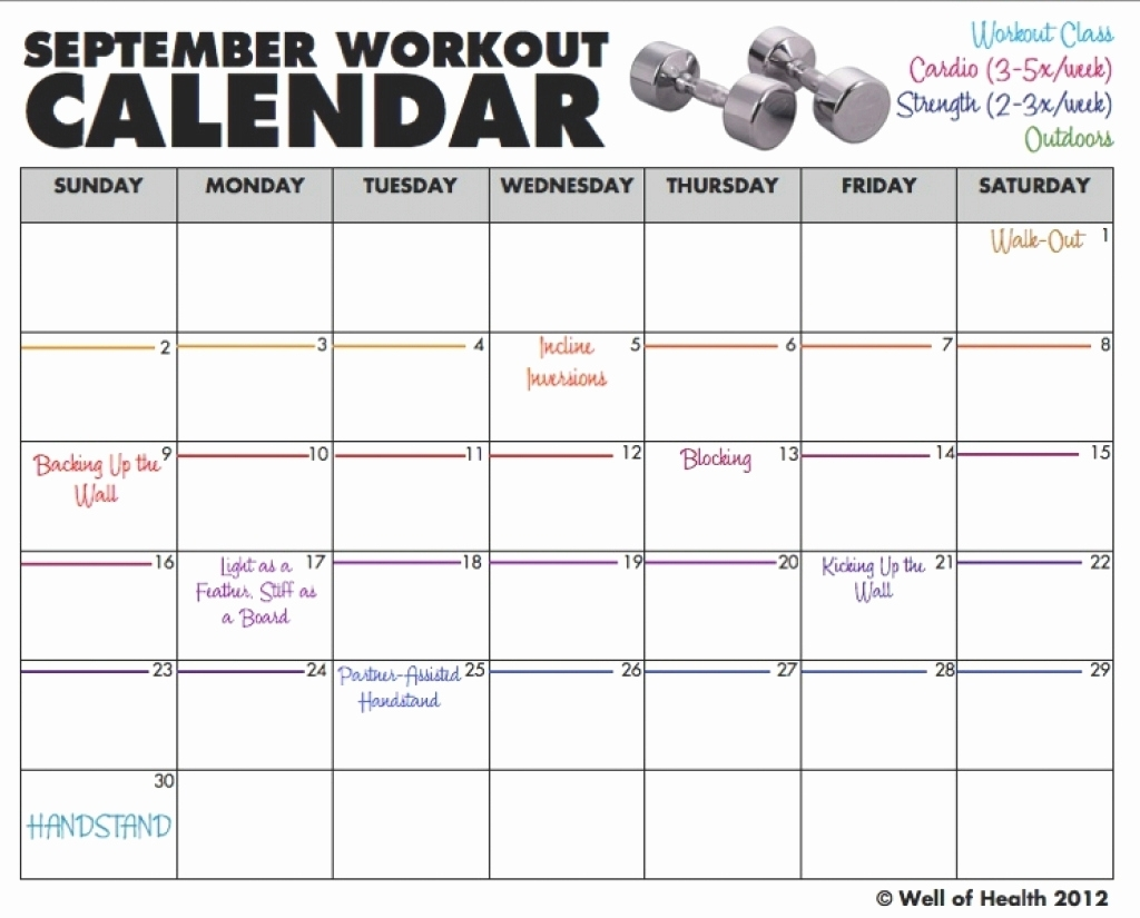 Monthly Exercise Calendar Printable Printable Exercise Calendar with The Insanity 60 Day Wall Calendar