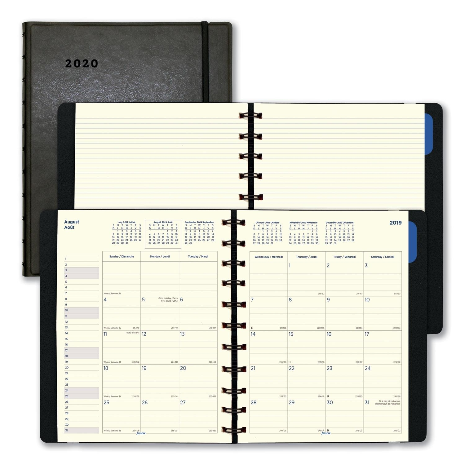 Monthly Planner, 10 3/4 X 8 1/2, Black, 2018-2019 - Zerbee intended for 4 X 4 Monthly Planner