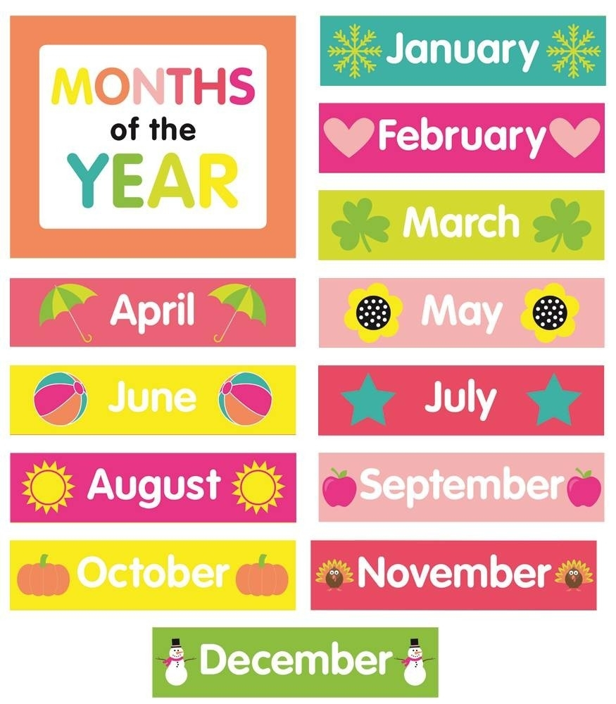 Months Of The Year Calendar Printables Just Teach Month Printable with Calendar Months Of The Year