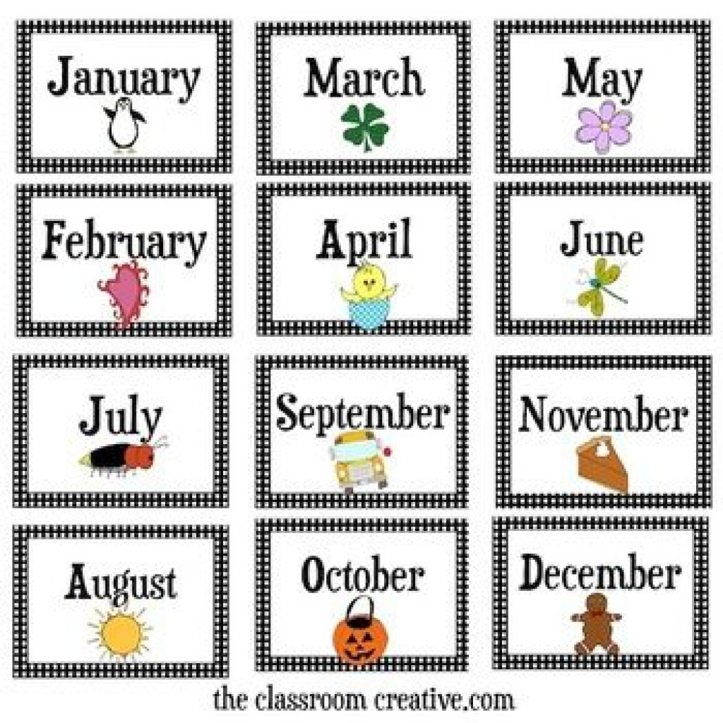 Months Of The Year Calendar Printables   Otohondalongan in Calendar Months Of The Year
