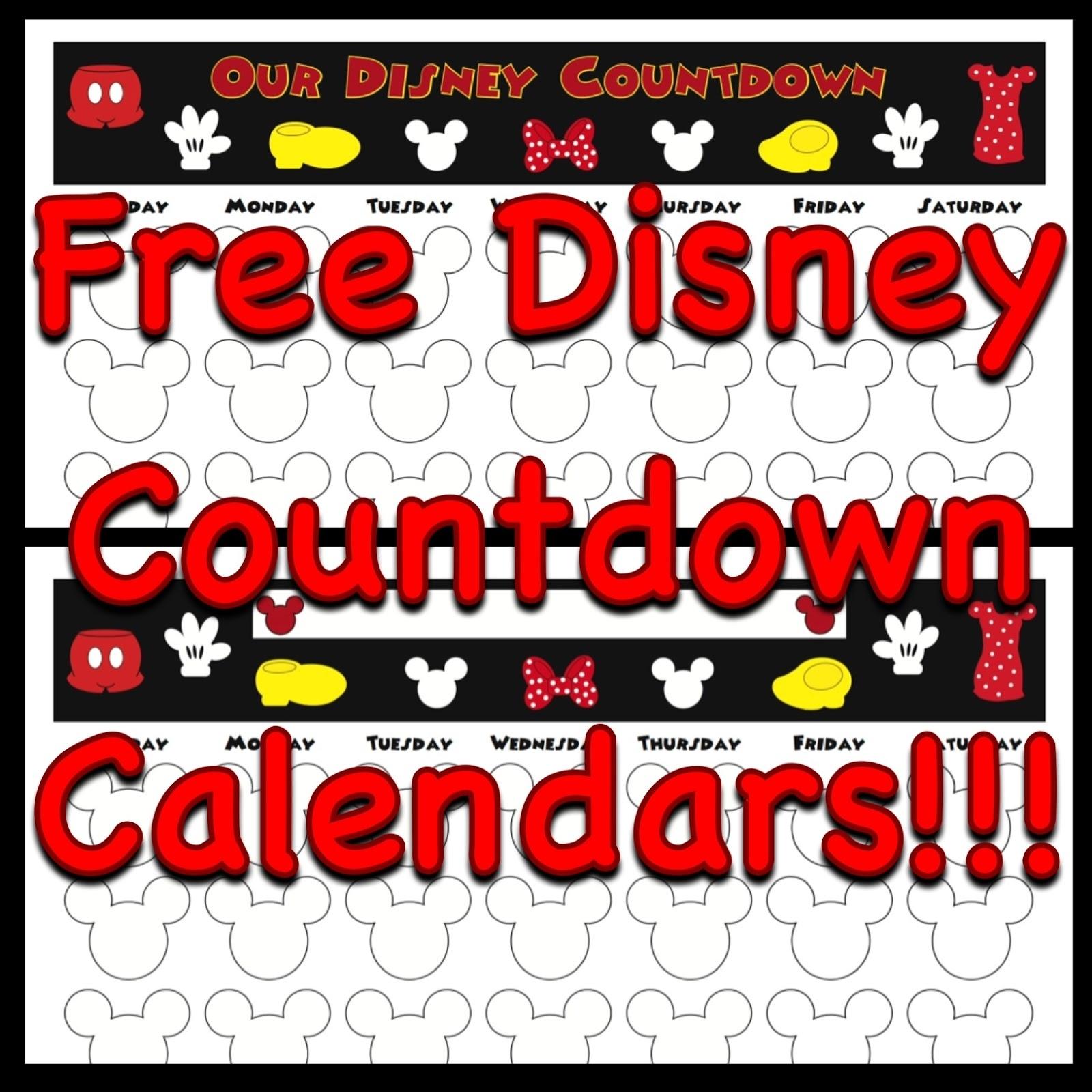 My Disney Life: Countdown Calendars regarding Disney Cruise Countdown Calendar Printable