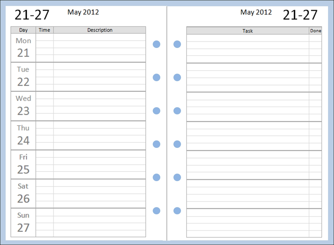 My Life All In One Place: Finally! Free Pocket Filofax Diary Layouts inside Printable Blank Monthly Calendar With Lines For Purse