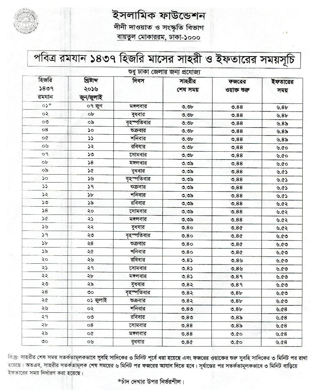 Namaz Sehri Iftar Time In Bangladesh | Template Calendar Printable inside Namaz Sehri Iftar Time In Bangladesh
