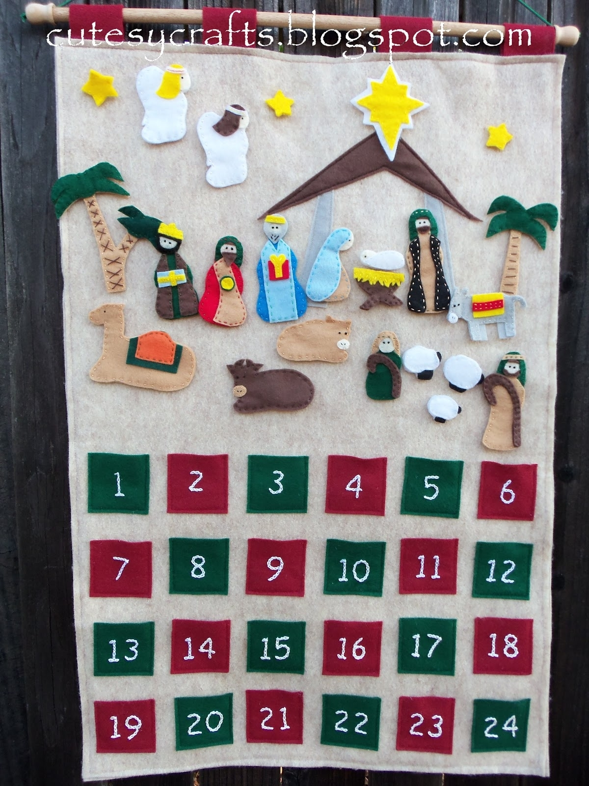 Nativity Advent Calendar - Cutesy Crafts inside Advent Calendar Gifts With Verses