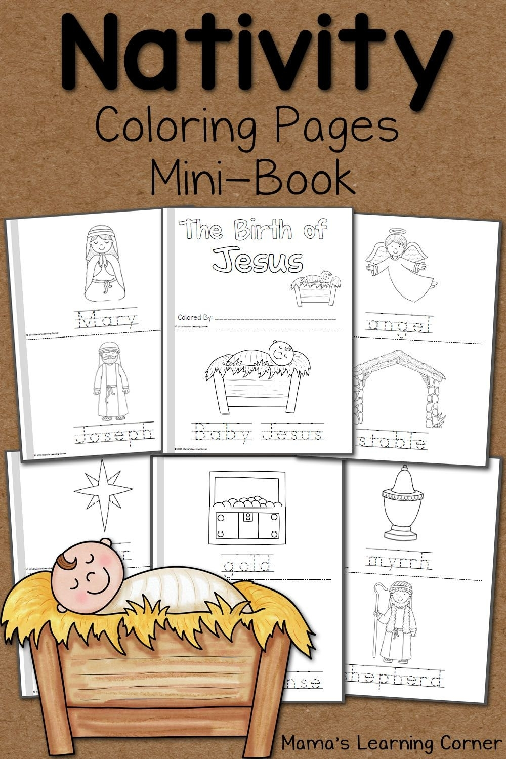 Nativity Coloring Pages | Ultimate Homeschool Board | Nativity with regard to Grade R Cover Page Colouring Page