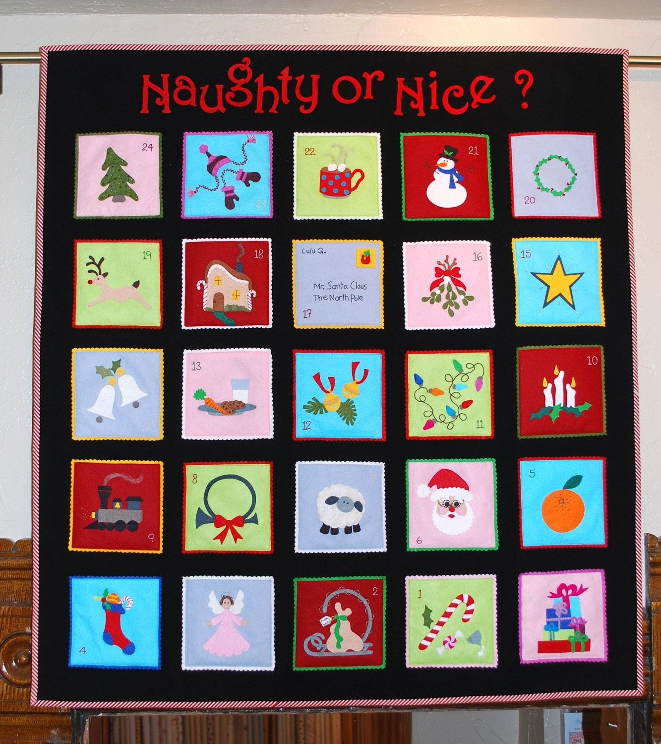 Naughty Or Nice Advent Calendar Pattern. $14.95, Via Etsy. | Pipers within 12 Month Photo Calendar Ideas Naughty