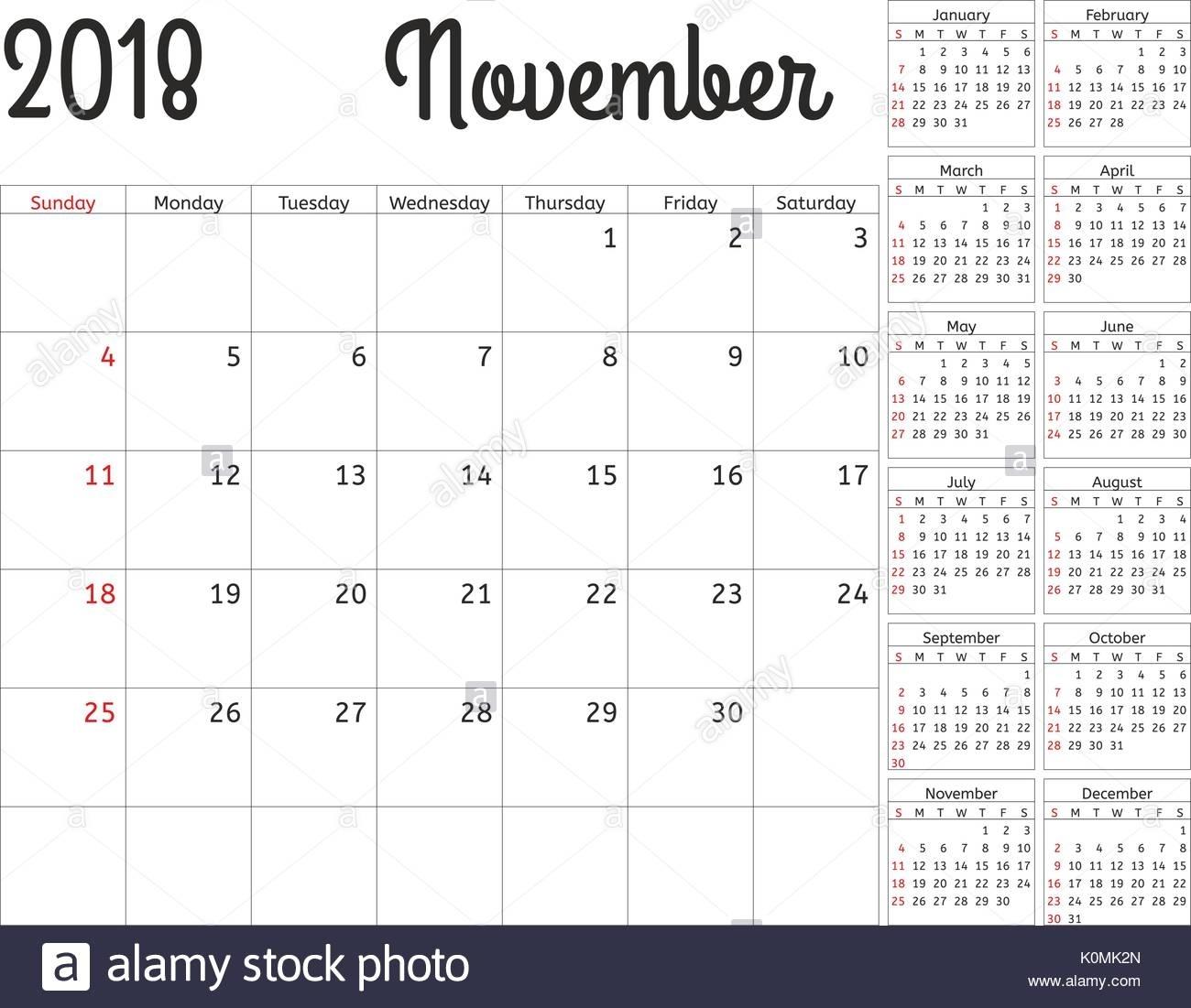 November Calender Stock Photos & November Calender Stock Images - Alamy regarding Medroxyprogesterone Perpetual Calendar 12-14 Weeks
