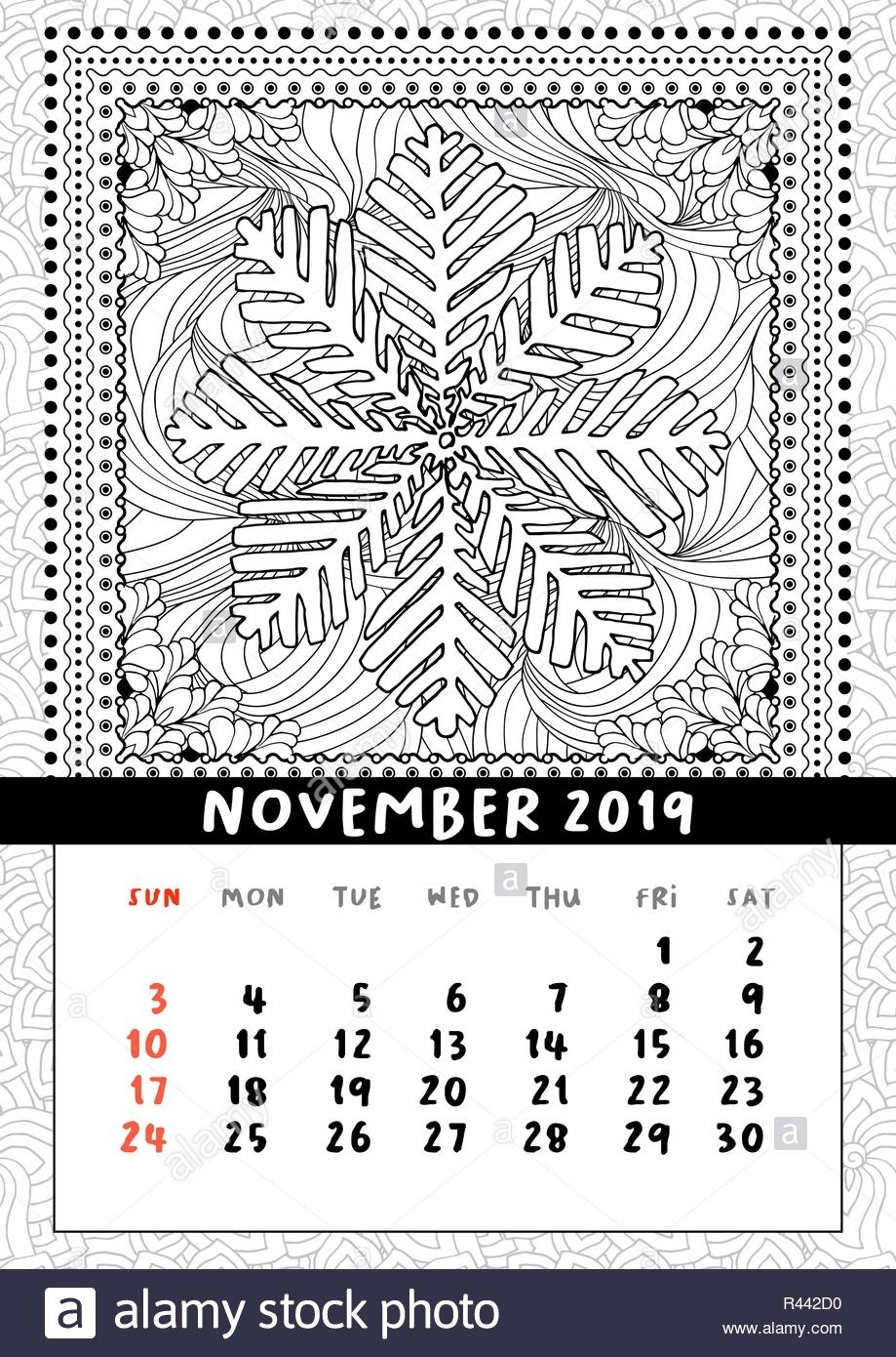 November Calender Stock Photos & November Calender Stock Images - Alamy with regard to Medroxyprogesterone Perpetual Calendar 12-14 Weeks