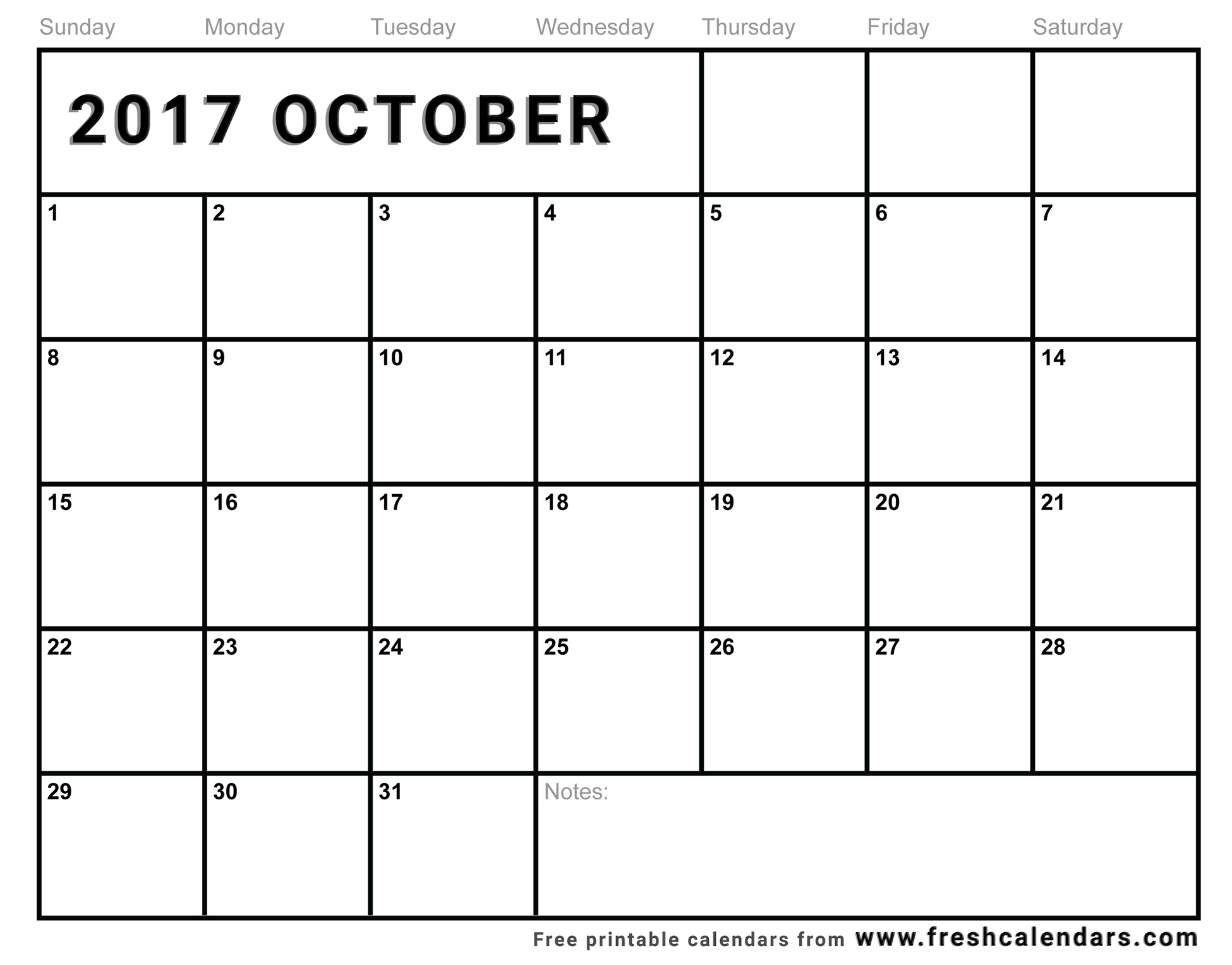 October 2017 Calendar Printable - Fresh Calendars inside Free Editable Monthly Calendar Printable