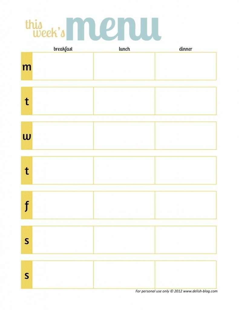 One Week Menu Planner E Onenote Weekly Calendar Page Schedule | Smorad throughout 1 Week Menu Calendar Template