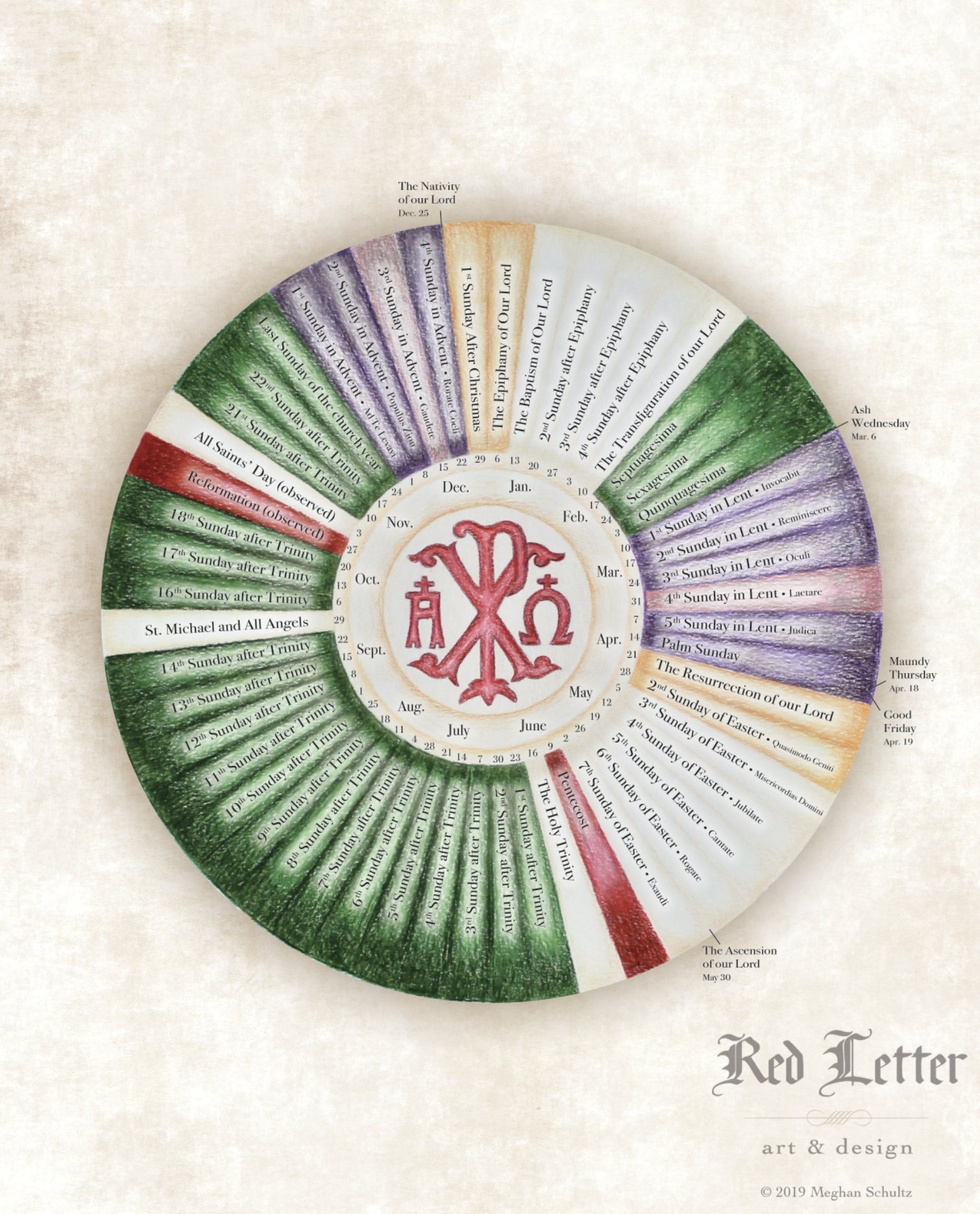 One Year Lectionary Liturgical Calendar | Etsy intended for Liturgical Calendar In Sri Lanka