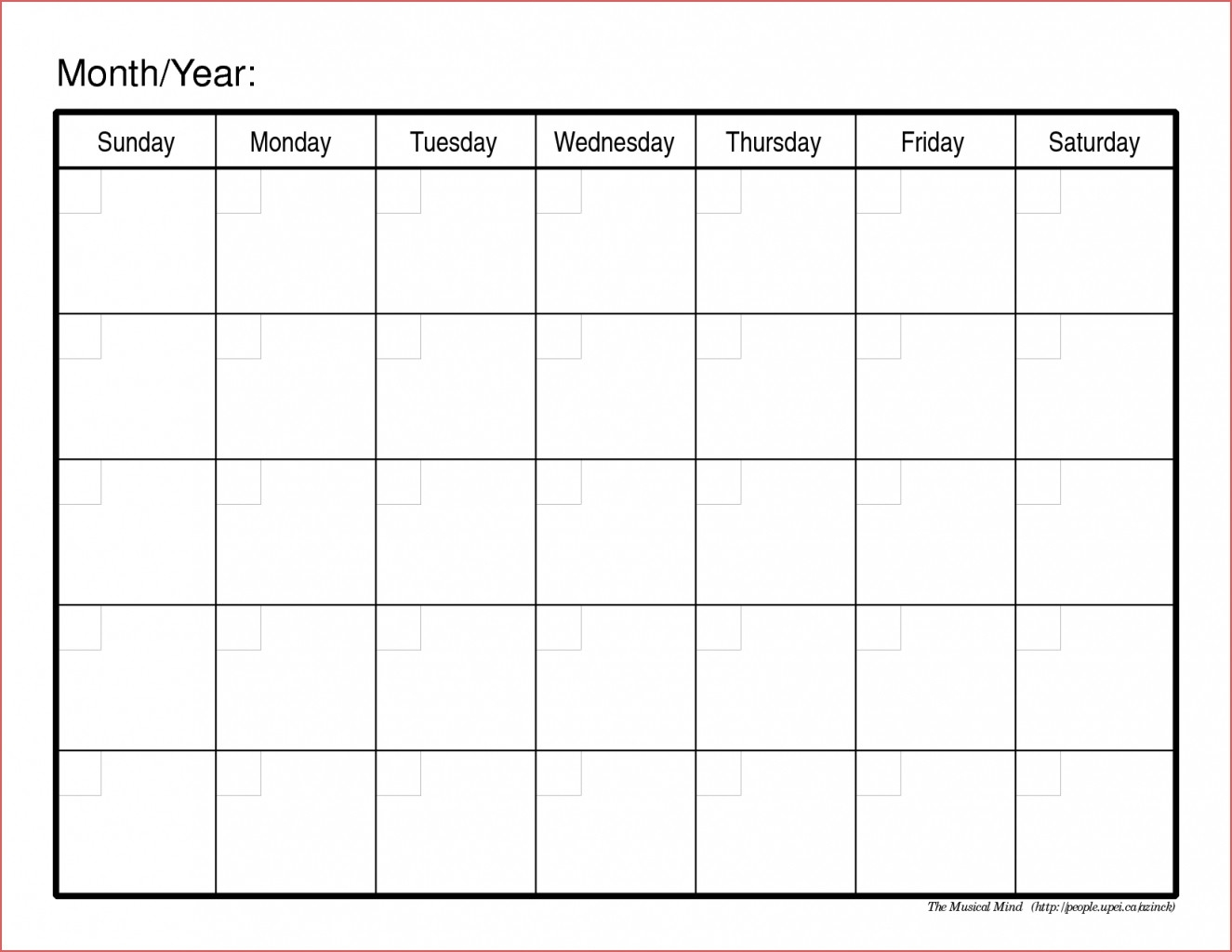 Online Calendar Planner Printable Calendar Month Printable Free throughout Template Of A Blank Calendar Of A Month