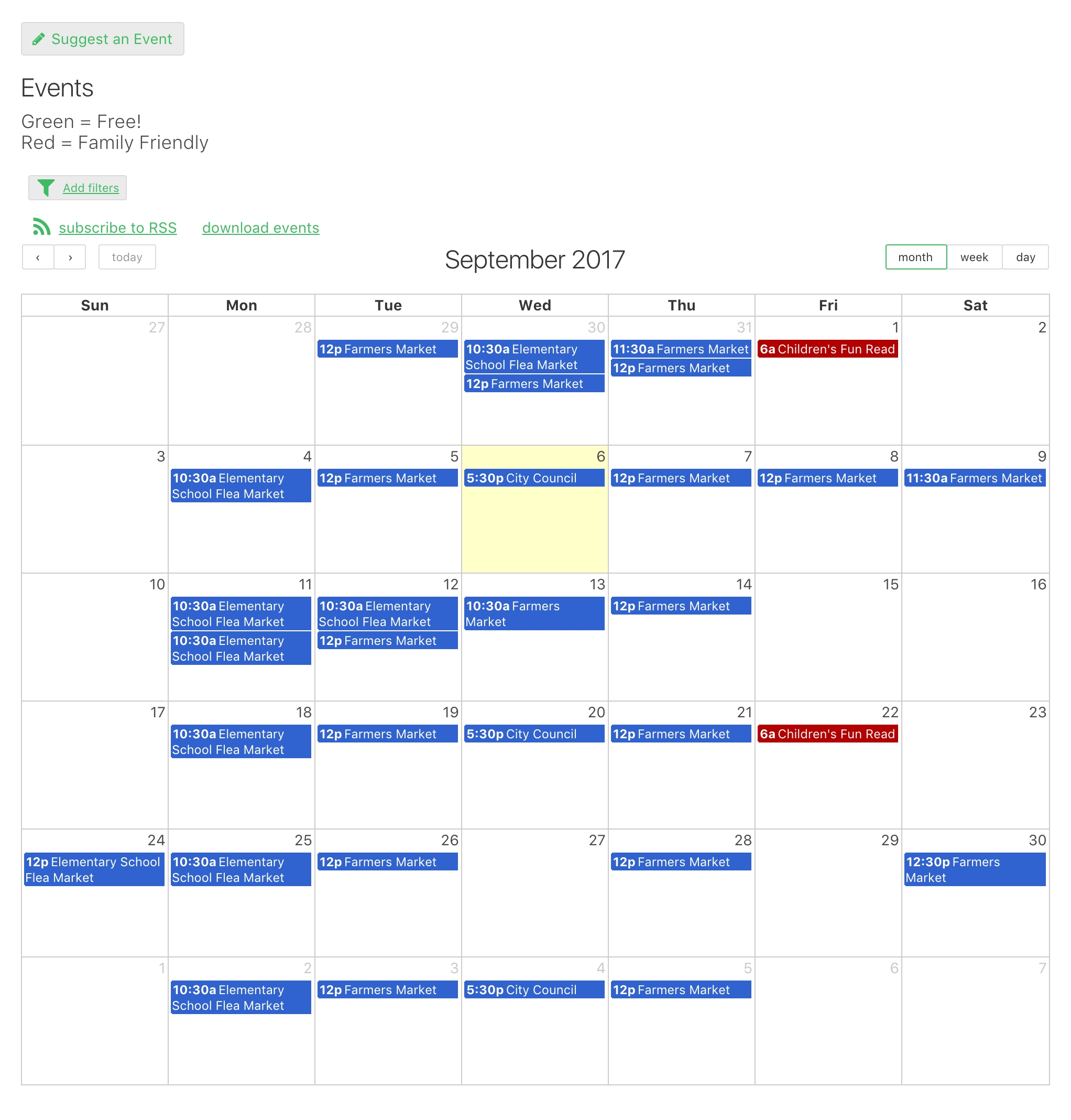 Online Database And Workflow Templates: Event Calendar in Church Calendar Of Events Template