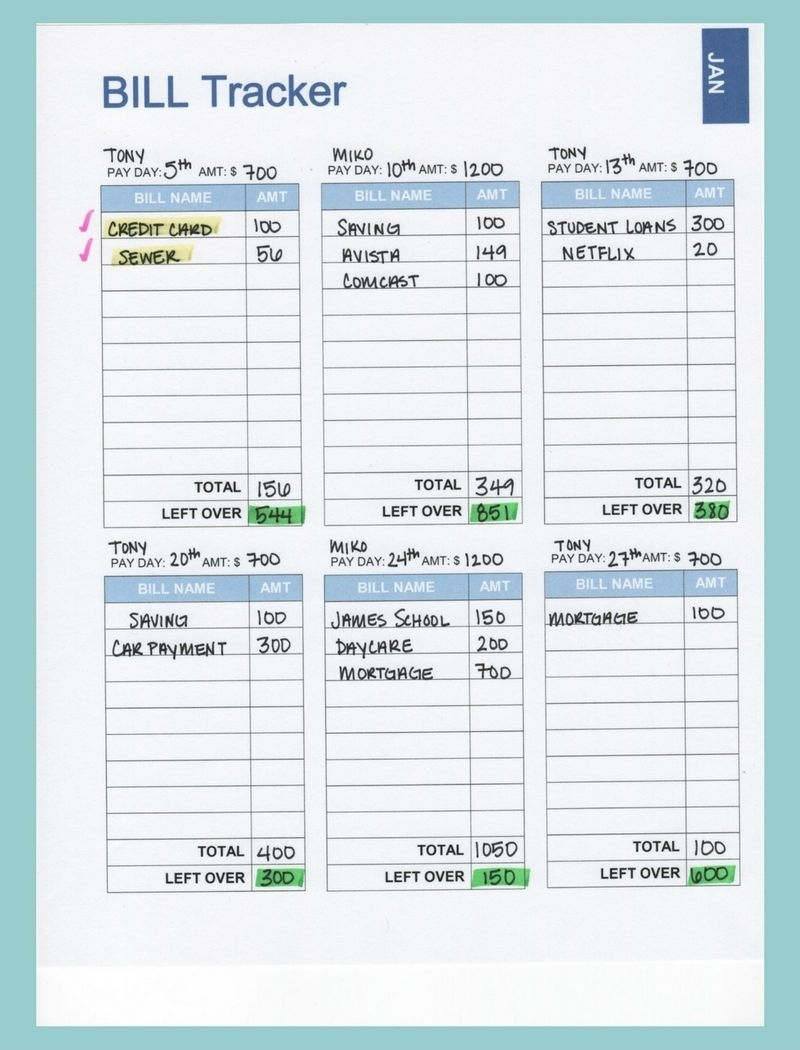 Our 2017 Budget Binder (A Plan For Every Dollar) | Organization with regard to Payday And Bill Calendar Printable
