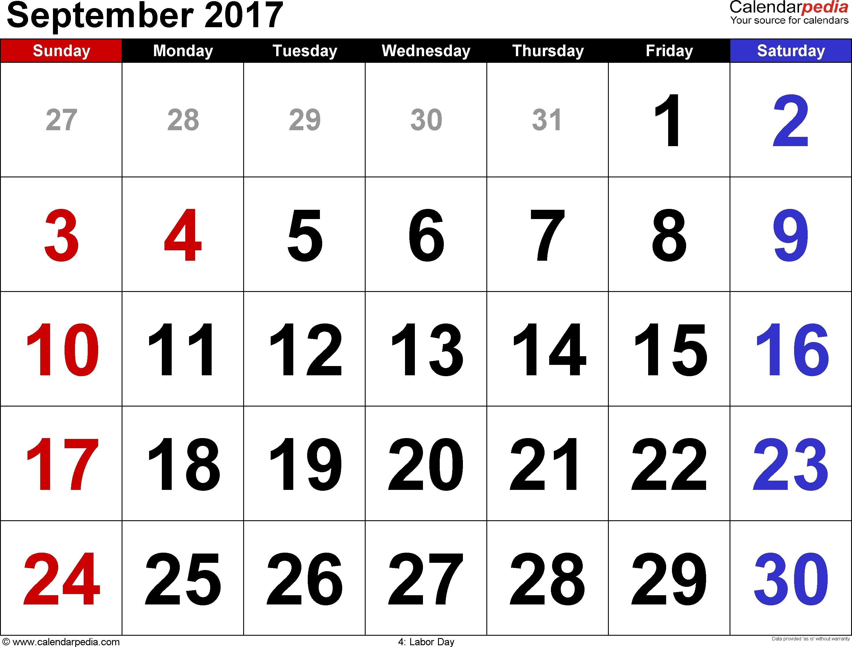 Part 58 Settoplinux intended for Large Printable Calendar Sept 2-17