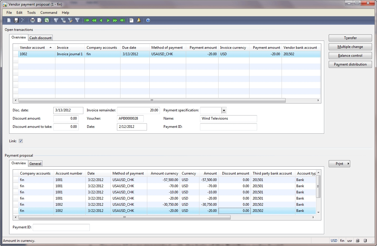 Paying A Vendor - Microsoft Dynamics Ax Community in Ledger To Get Bill Pay Under Control