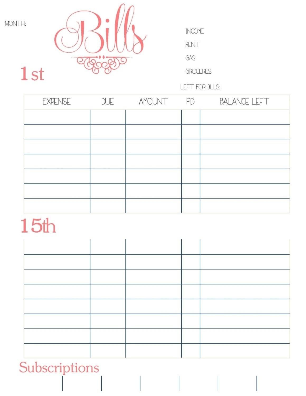 Paying Bills Calendar Template Print Calendar Template 2018 Calendar within Template For Bills To Print