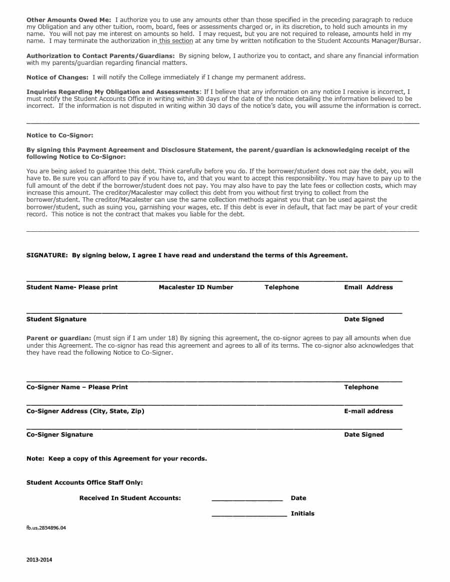 Payment Agreement - 40 Templates & Contracts ᐅ Template Lab with regard to Free Printable Blank Templates For Paid And Owed