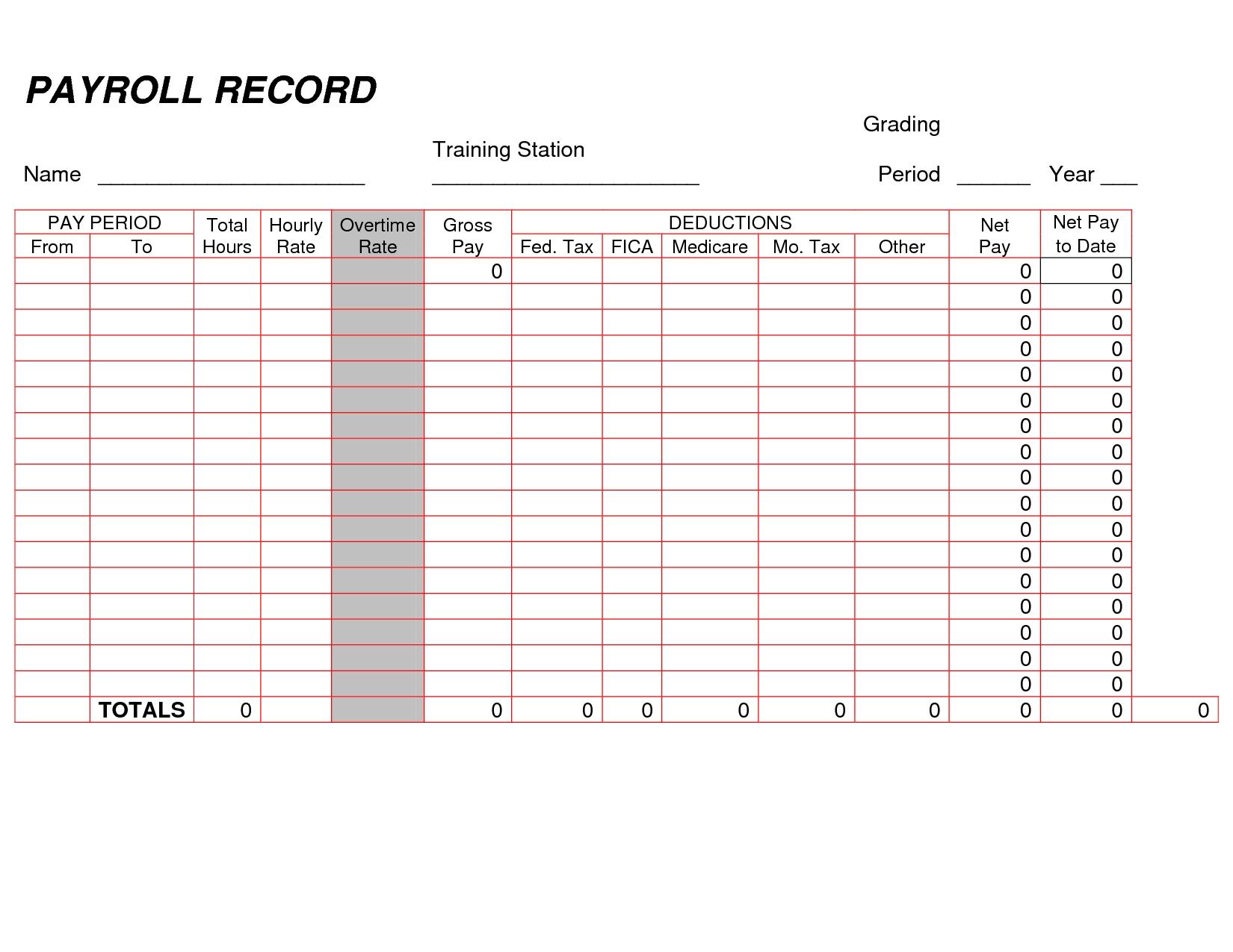 Payroll Sheet Templates Spread Sheet Payroll Spreadsheet Template throughout Sample Of Weekly Payroll Format