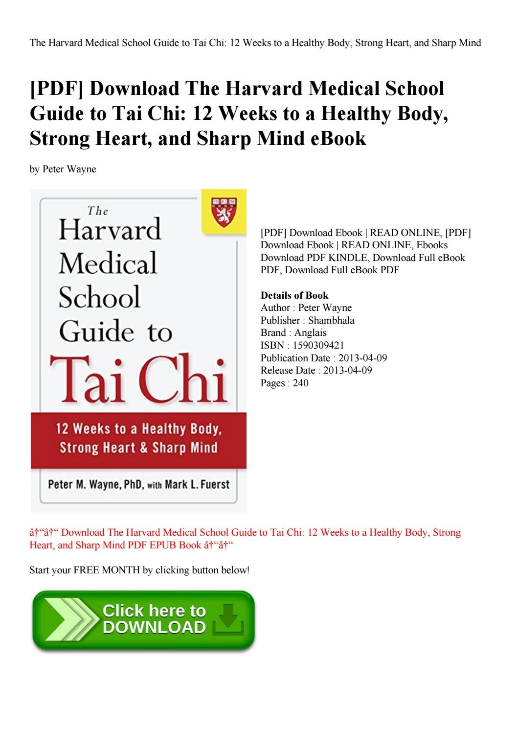Pdf] Download The Harvard Medical School Guide To Tai Chi 12 Weeks with regard to 12 Hours In 12 Weeks Pdf Download