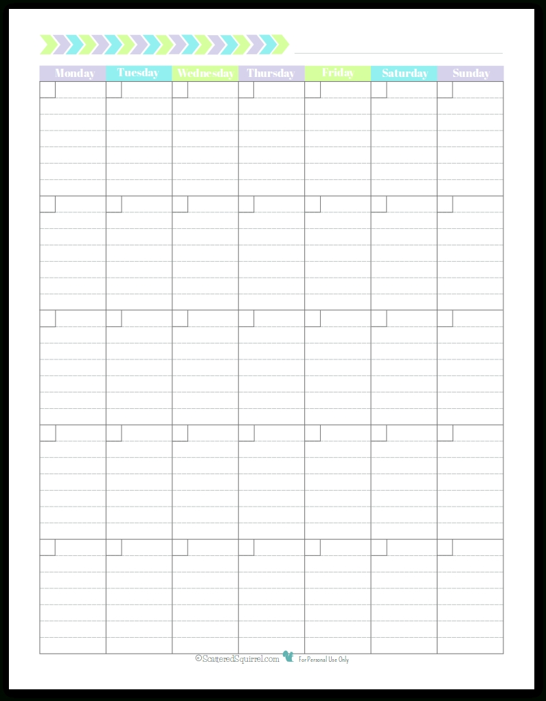 Personal Planner - Free Printables | Planners, Charts, Stickers intended for Blank Lined Weekly Printable Calendar