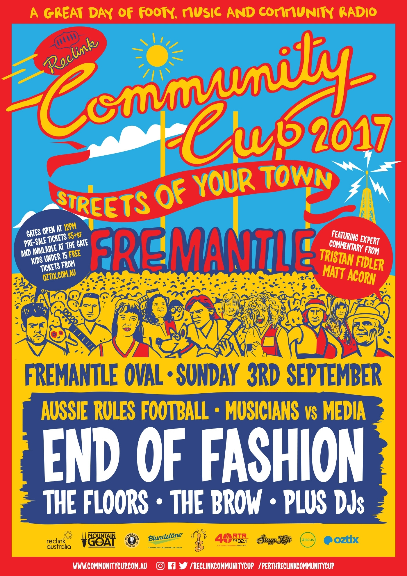 Perth Reclink Community Cup 2017 « Rtrfm / The Sound Alternative intended for September Content Calender Aus Perth
