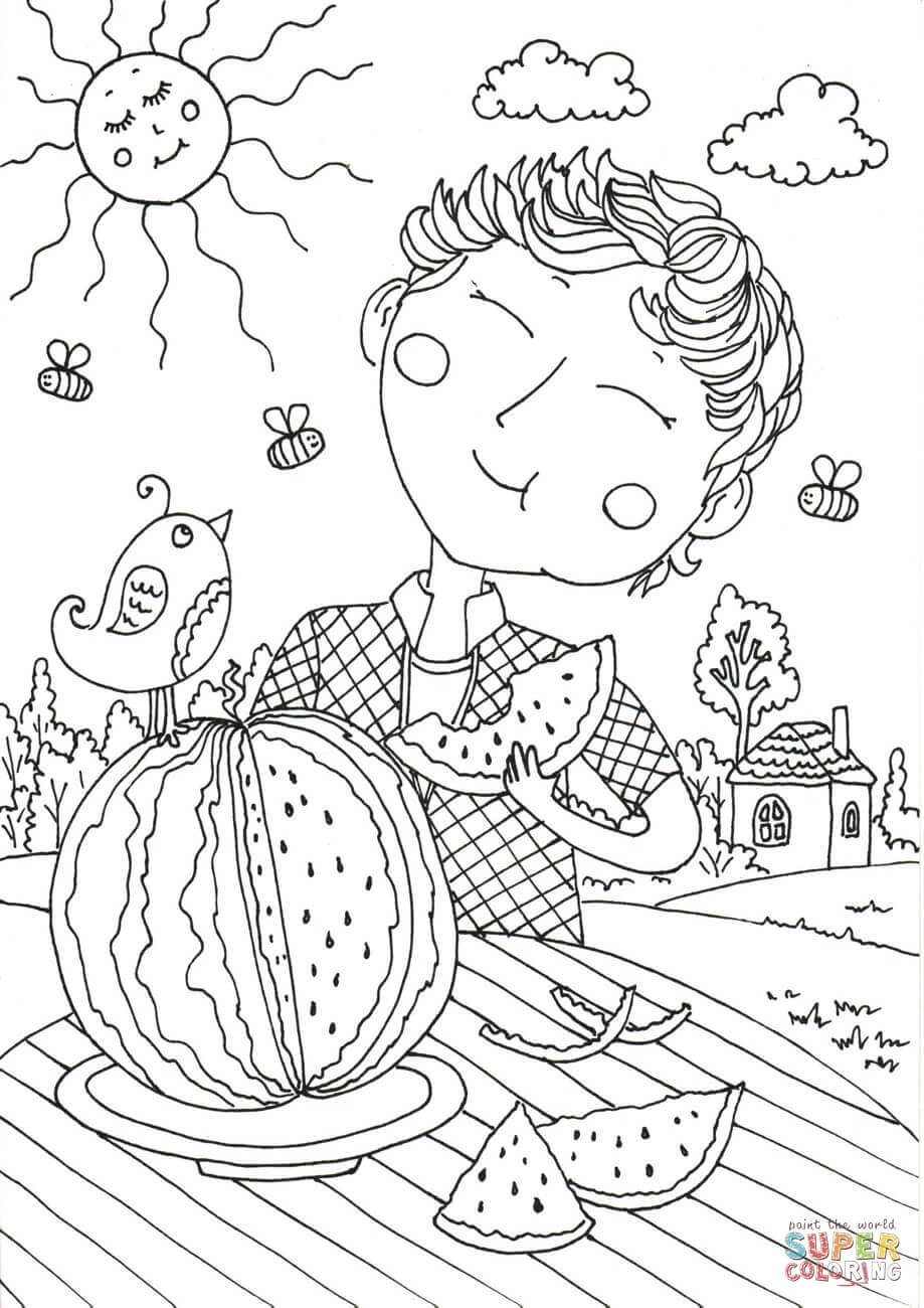Peter Boy In August Coloring Page | Free Printable Coloring Pages for August Printable Images To Color