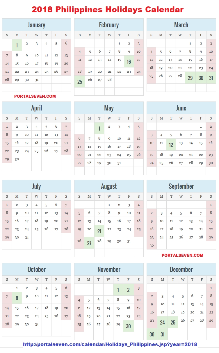 Philippines 2018 Calendar | Filipino Holidays 2018 inside Islamic Calendar For The Philippines