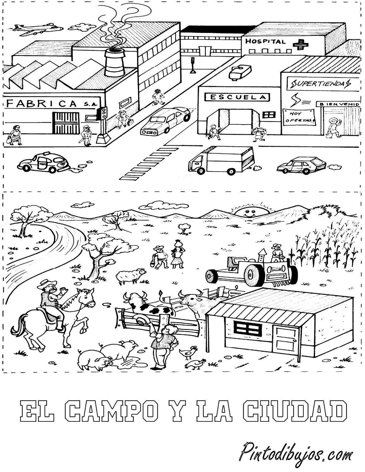 Pin De Elena Chavarría En Escuela   Ciencias Sociales Primaria with Dibujos De Campos Sin Pintar De Preecolar