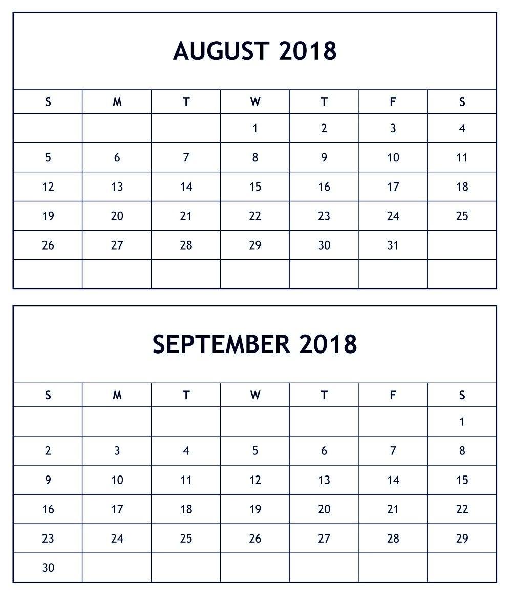 Pin4Khd On August September 2018 Calendar | August Calendar regarding August And September Calendar Printable