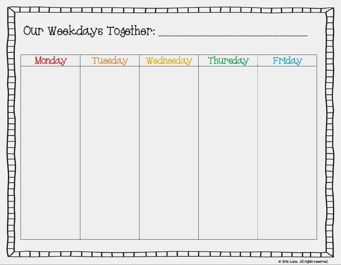Pinmarquitta Trimnell On Parenting | School Calendar, Google for Blank Calendar With Only Weekdays